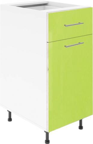 Крафт D2 долен шкаф с една врата и чекмедже 45см, зелен гланц