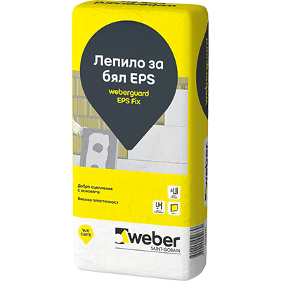 Weberguard EPS Fix, лепило за бял EPS 25 кг