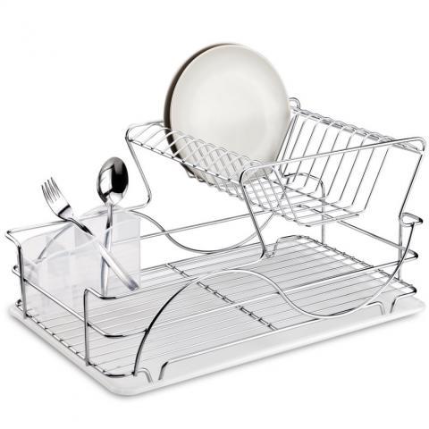 Сушилник за чинии 2 нива Хром