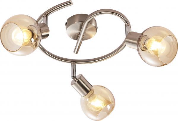Спот CASTELLO тройка кръг хром мат/кехл.  E14/max 40W