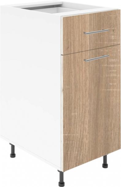Крафт D2 долен шкаф с една врата и чекмедже 45см,  дъб сонома