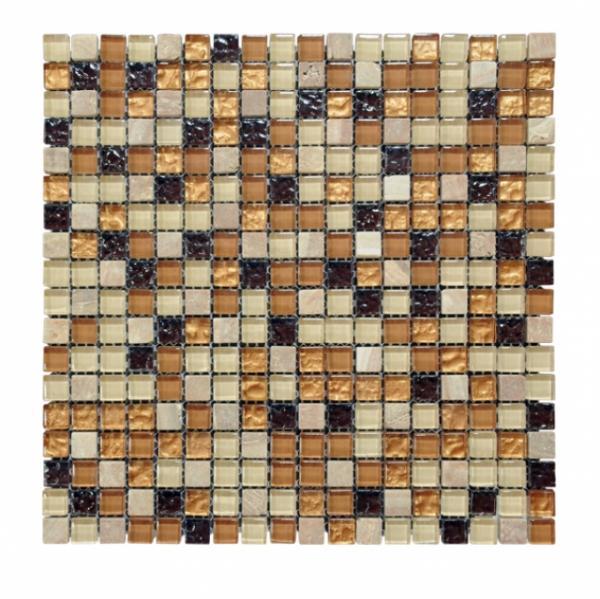 Стъкл. кам. мозайка 30х30 см беж