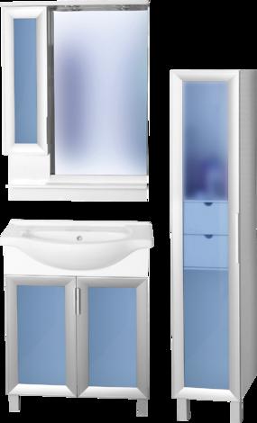 Мебел за баня с огледало Дъблин II