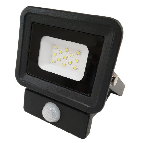 LED прожектор със сензор 10W 6000K IP65 черен