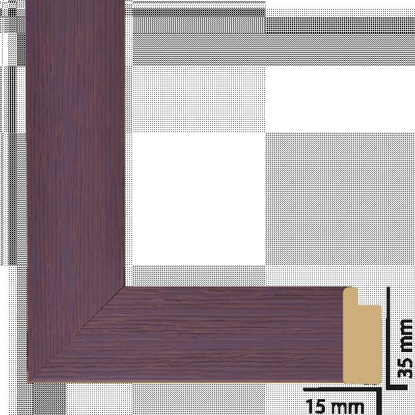 Рамка с паспарту дърво 40х50 см лилаво