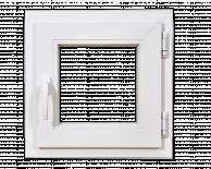 PVC позорец за баня 51/51см, три камерен профил