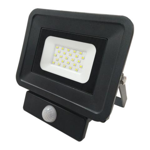 LED прожектор със сензор 20W 6000K IP65 черен