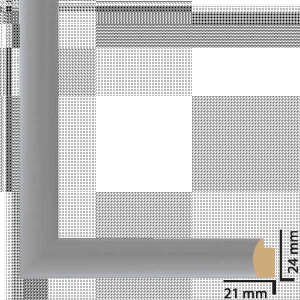 Рамка с паспарту ПВЦ 30х40 см сребро