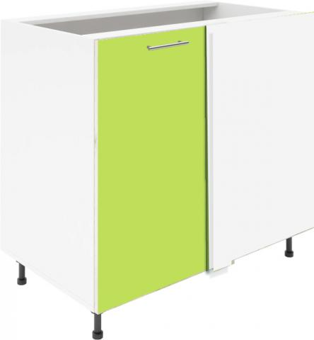 Крафт D7B долен шкаф с една врата и мъртво(500) 30см, зелен гланц
