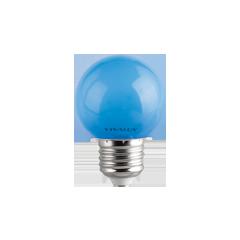 LED крушка G45 1W E27 синя 60lm