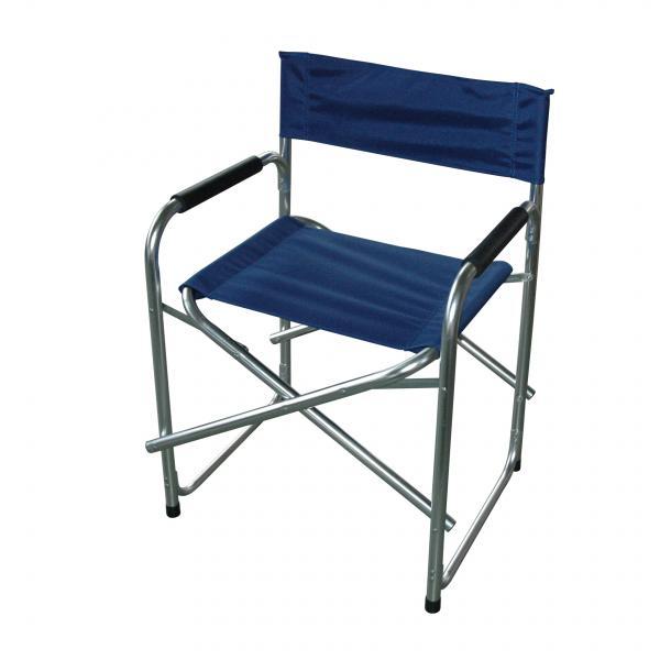 Сгъваем къмпинг стол син 47х57х79 см
