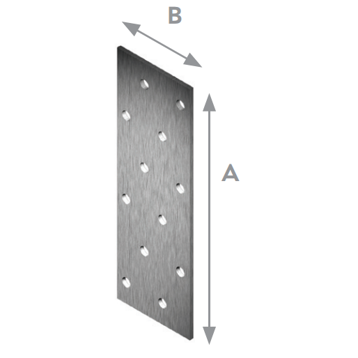Планка плоска перфорирана 180х60х2