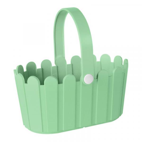 Кашпа-кошница 28х18 светло зеленo