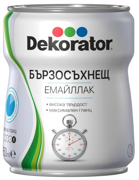 Бързосъхнещ емайл Decorator 0.65л, бял