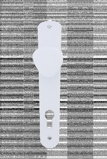 Дръжка Класико с топка 70 бяла блистер