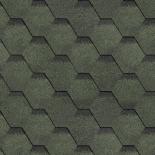 Финска битумна керемида пчелна пита, зелена, 3м2