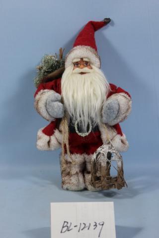 Фигура Дядо Коледа 60см, червен с фенер