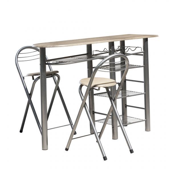 Комплект бар маса с 2 стола
