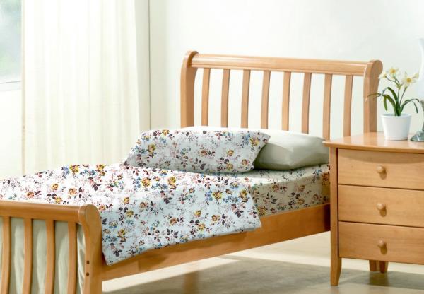Единичен спален комплект със завивка – цветен