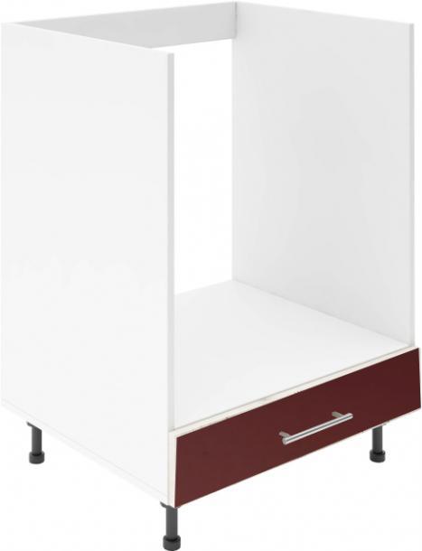 Крафт D8 долен шкаф за фурна 60см, бордо гланц