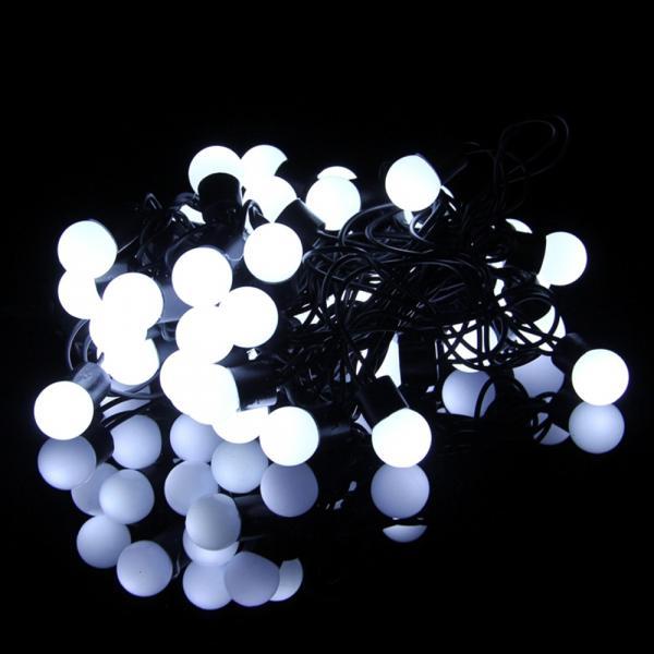 Светещ гирлянд  IN 5m, 50 студено бели LED